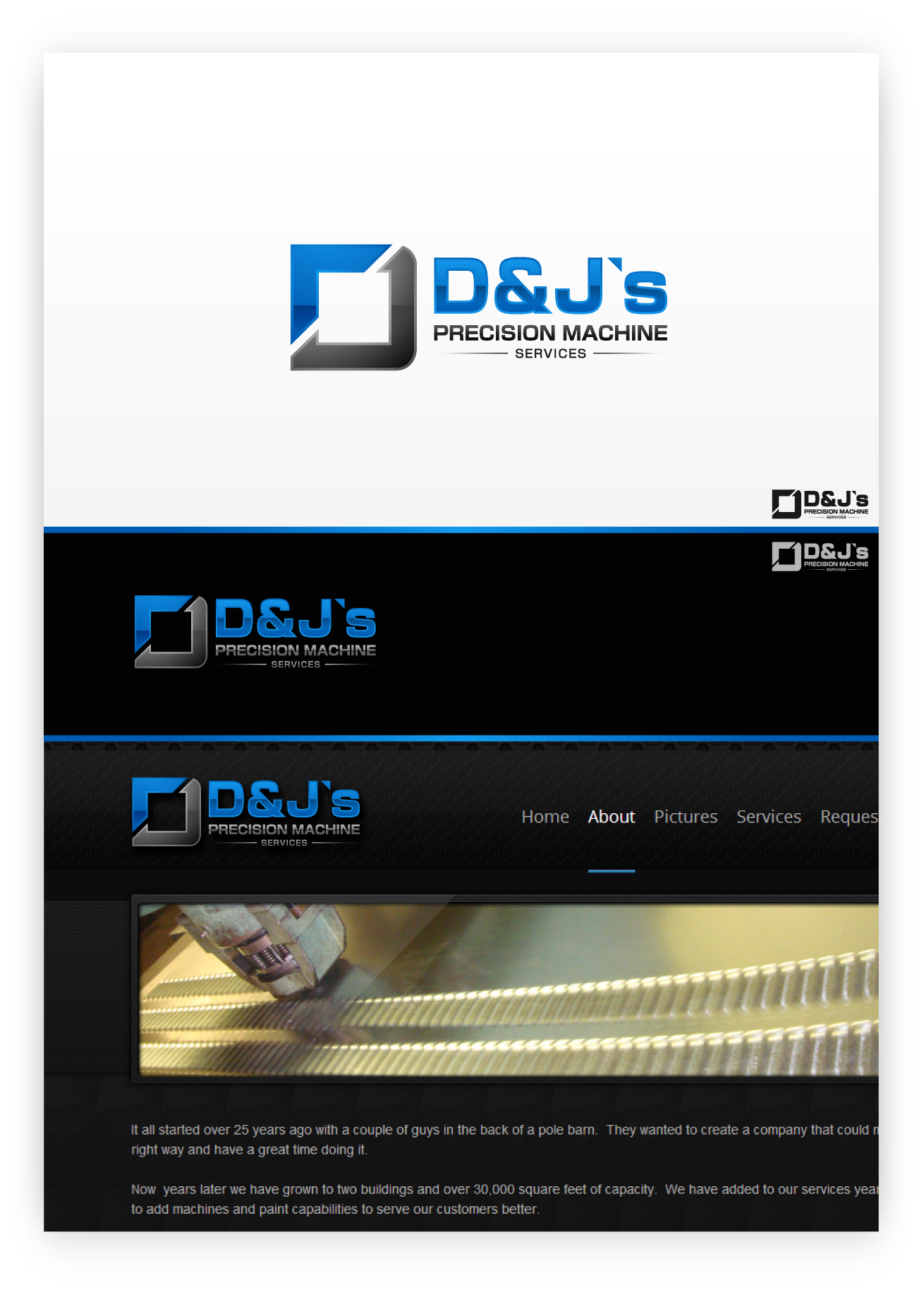 Logo Design by zoiDesign - Entry No. 85 in the Logo Design Contest Creative Logo Design for D & J's Precision Machine Services.