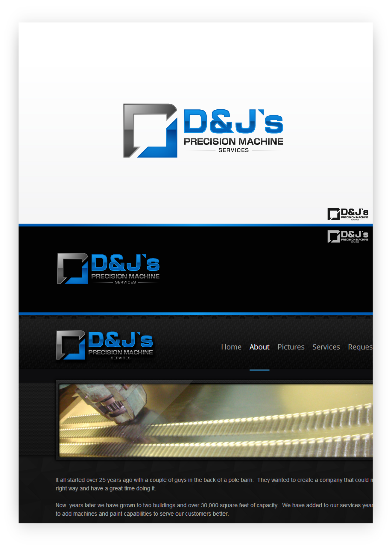 Logo Design by zoiDesign - Entry No. 86 in the Logo Design Contest Creative Logo Design for D & J's Precision Machine Services.