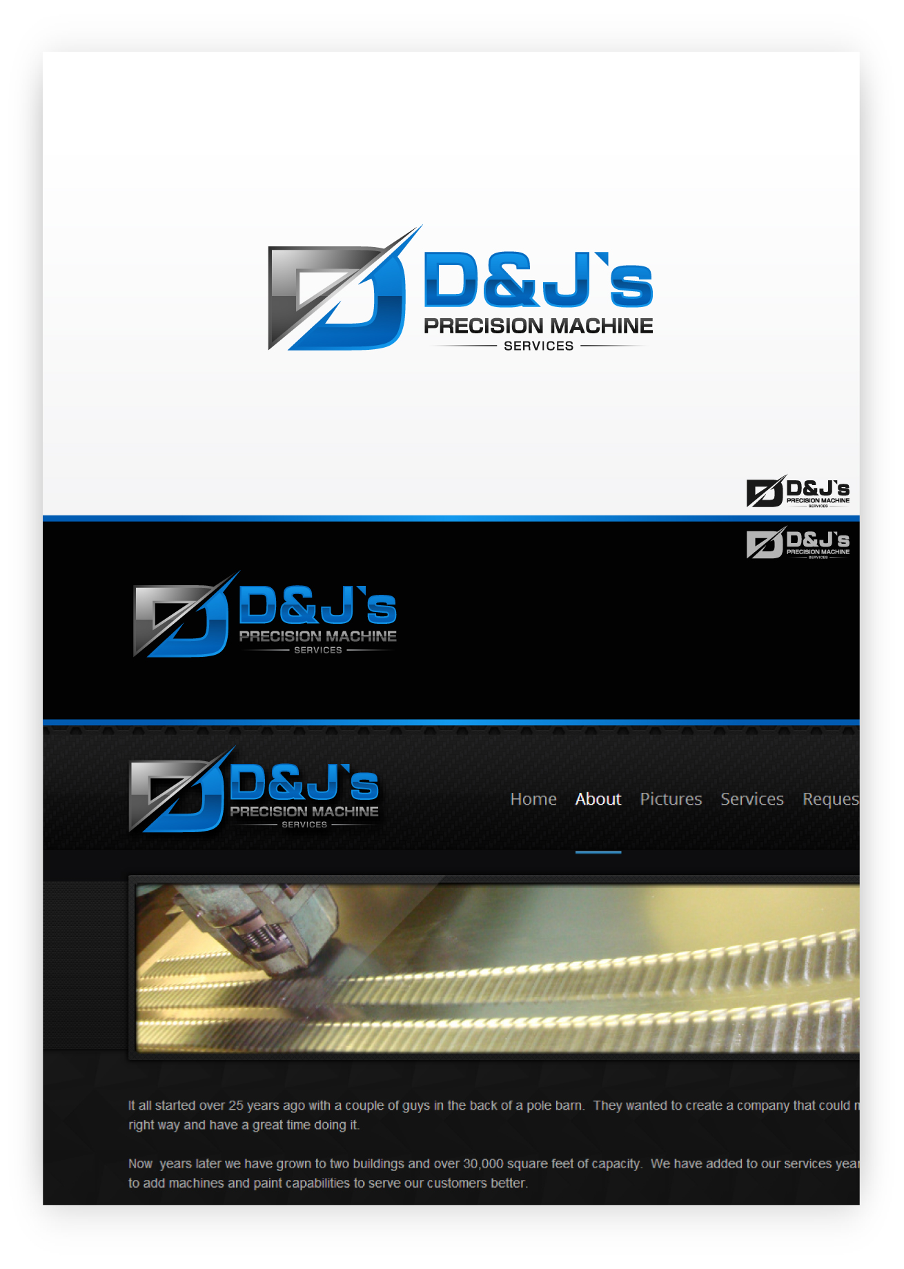 Logo Design by zoiDesign - Entry No. 87 in the Logo Design Contest Creative Logo Design for D & J's Precision Machine Services.