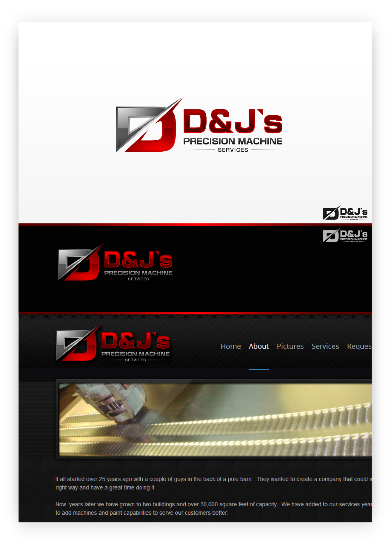 Logo Design by zoiDesign - Entry No. 88 in the Logo Design Contest Creative Logo Design for D & J's Precision Machine Services.