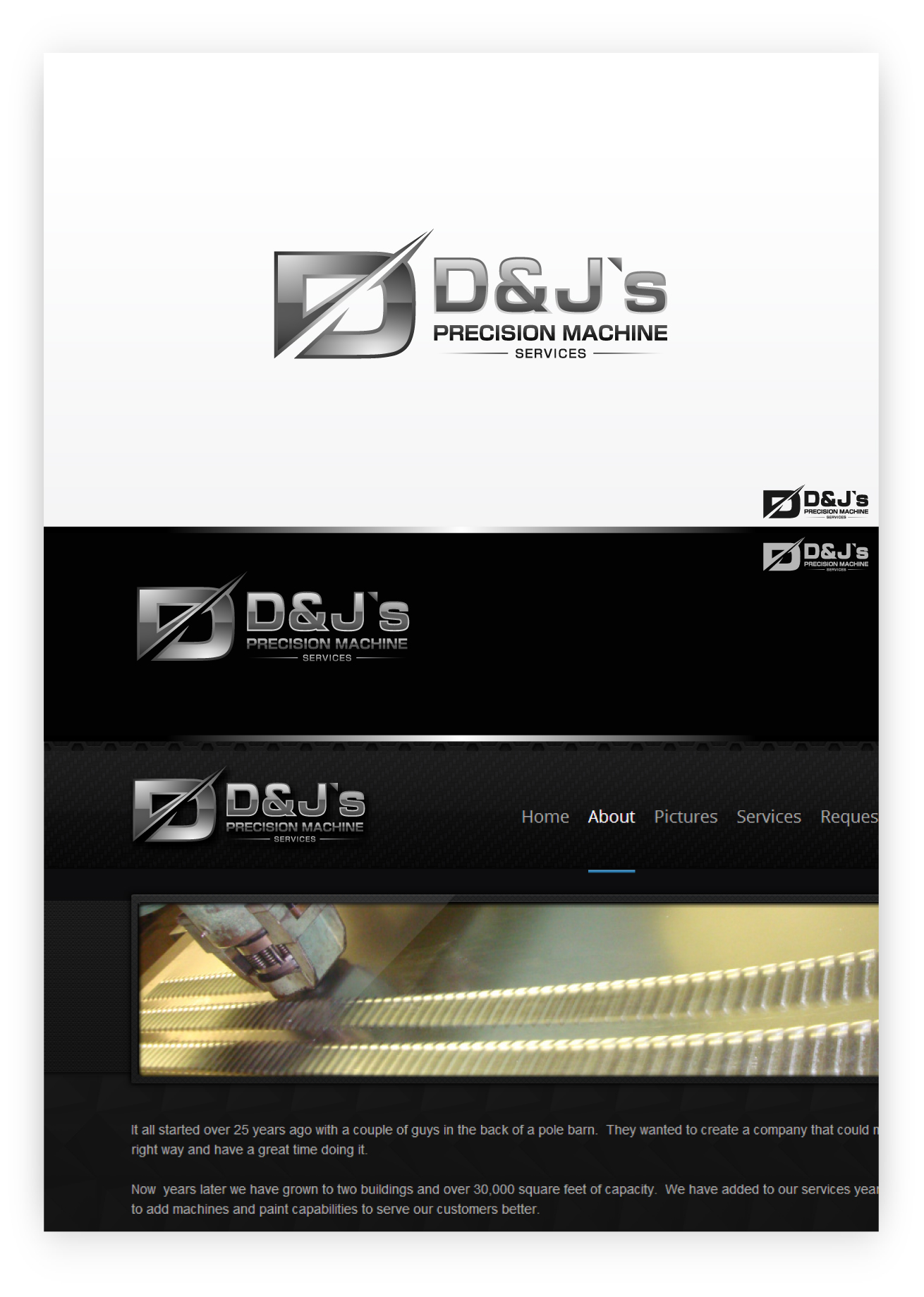 Logo Design by zoiDesign - Entry No. 89 in the Logo Design Contest Creative Logo Design for D & J's Precision Machine Services.