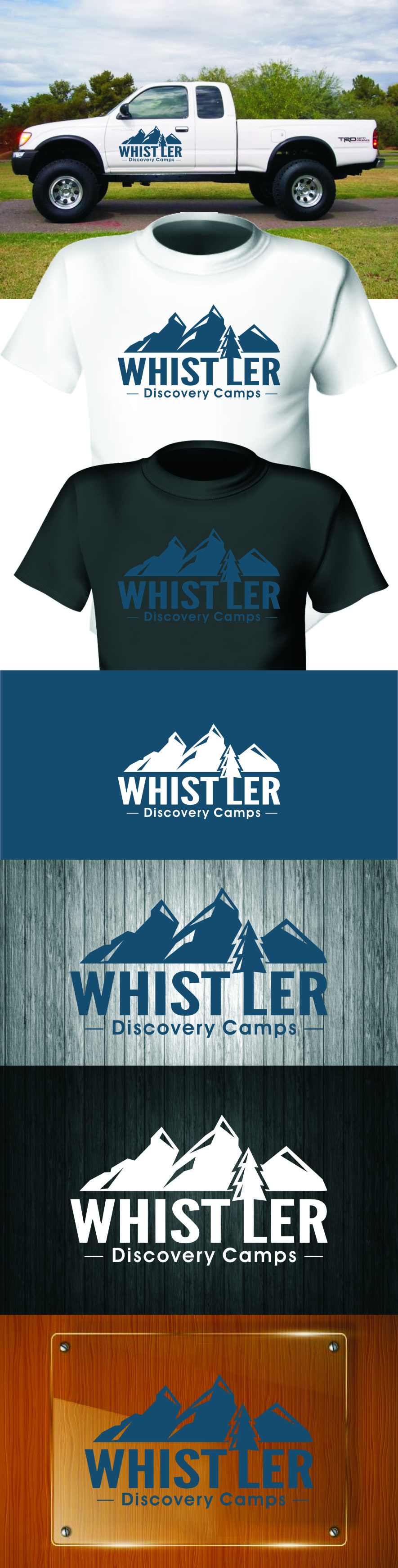 Logo Design by RasYa Muhammad Athaya - Entry No. 105 in the Logo Design Contest Captivating Logo Design for Whistler Discovery Camps.