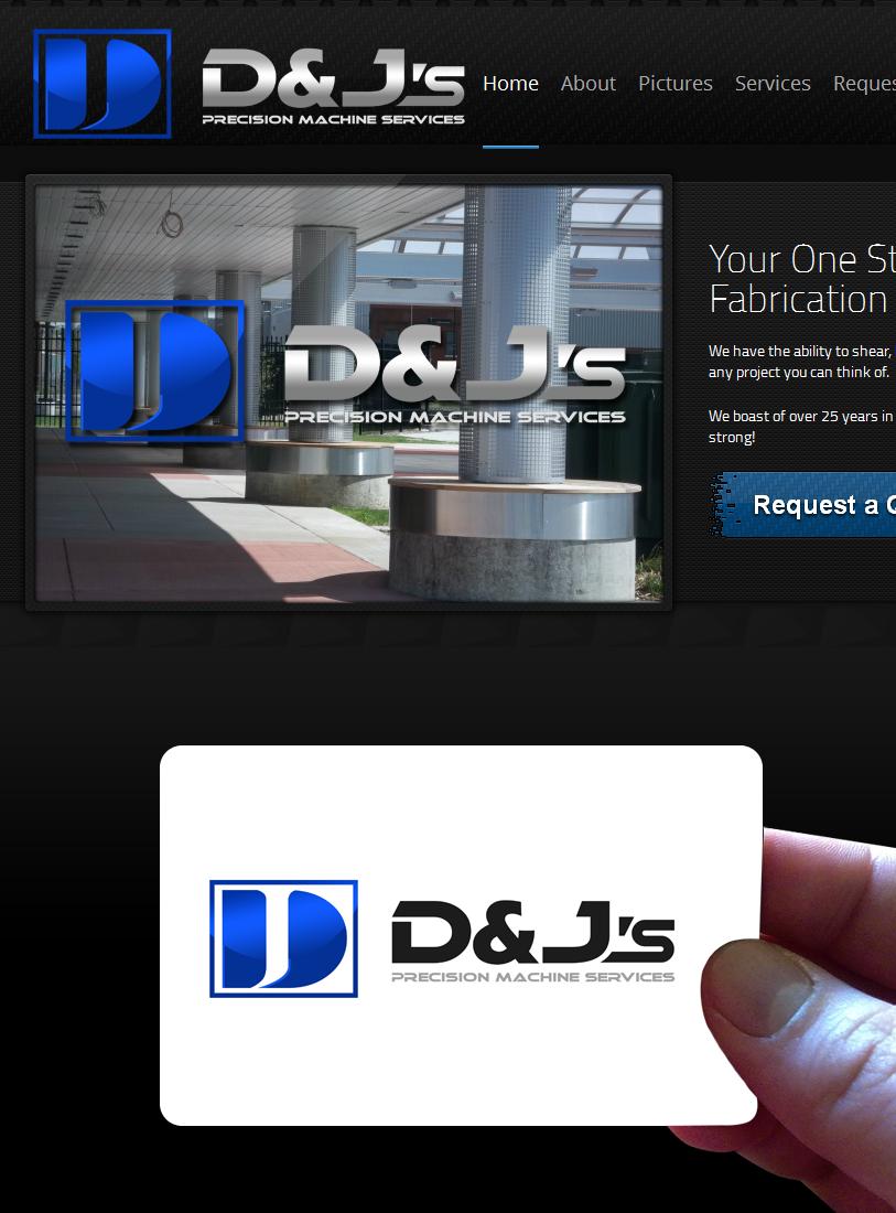 Logo Design by Private User - Entry No. 92 in the Logo Design Contest Creative Logo Design for D & J's Precision Machine Services.