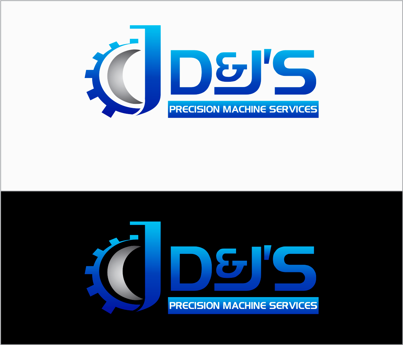 Logo Design by Armada Jamaluddin - Entry No. 93 in the Logo Design Contest Creative Logo Design for D & J's Precision Machine Services.
