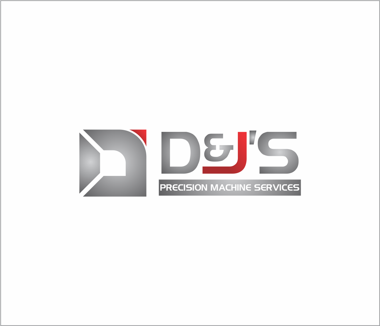 Logo Design by Armada Jamaluddin - Entry No. 94 in the Logo Design Contest Creative Logo Design for D & J's Precision Machine Services.