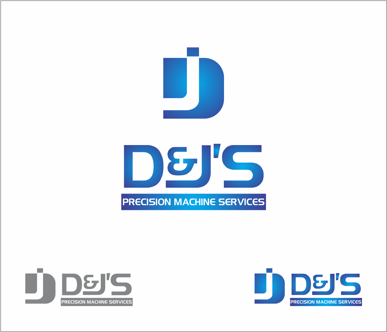 Logo Design by Armada Jamaluddin - Entry No. 95 in the Logo Design Contest Creative Logo Design for D & J's Precision Machine Services.