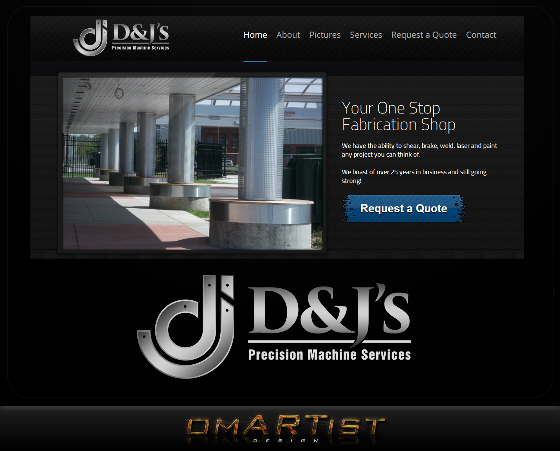 Logo Design by omARTist - Entry No. 97 in the Logo Design Contest Creative Logo Design for D & J's Precision Machine Services.