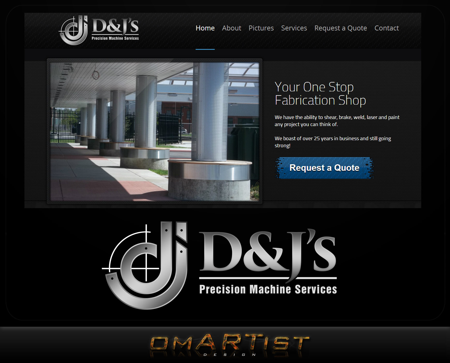 Logo Design by omARTist - Entry No. 98 in the Logo Design Contest Creative Logo Design for D & J's Precision Machine Services.