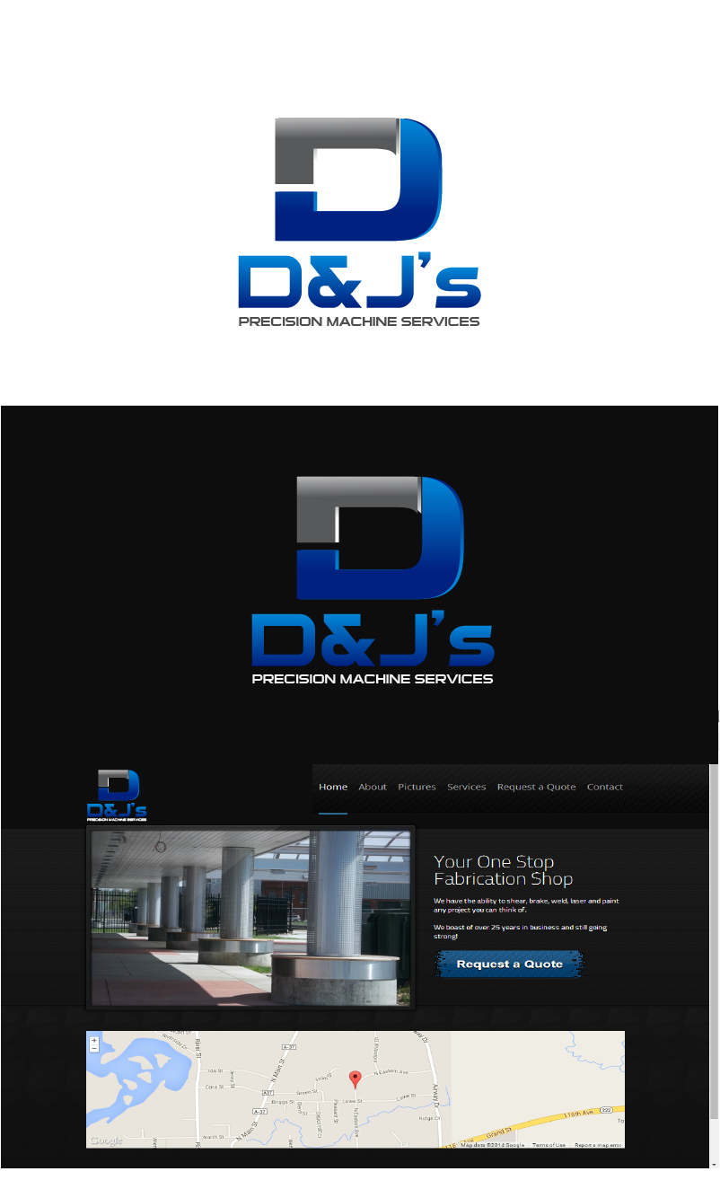 Logo Design by Private User - Entry No. 100 in the Logo Design Contest Creative Logo Design for D & J's Precision Machine Services.