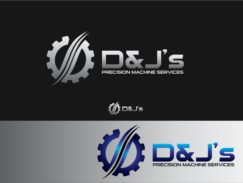 Logo Design by Private User - Entry No. 101 in the Logo Design Contest Creative Logo Design for D & J's Precision Machine Services.