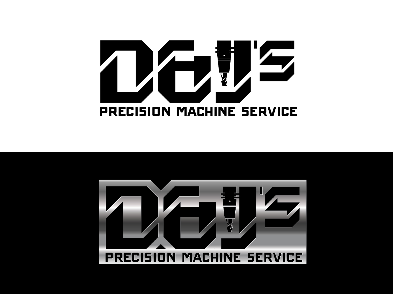 Logo Design by Cutris Lotter - Entry No. 104 in the Logo Design Contest Creative Logo Design for D & J's Precision Machine Services.