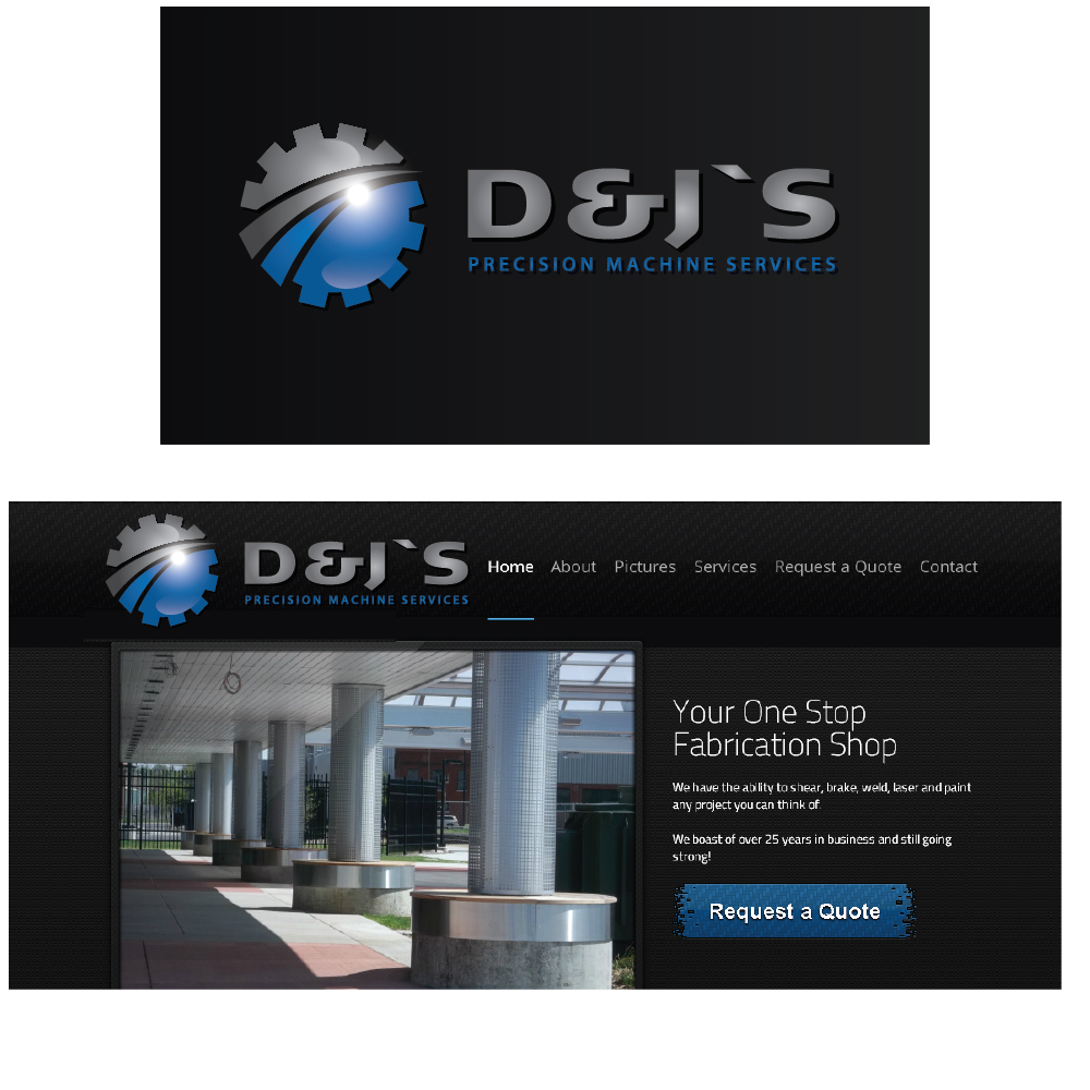 Logo Design by danelav - Entry No. 109 in the Logo Design Contest Creative Logo Design for D & J's Precision Machine Services.