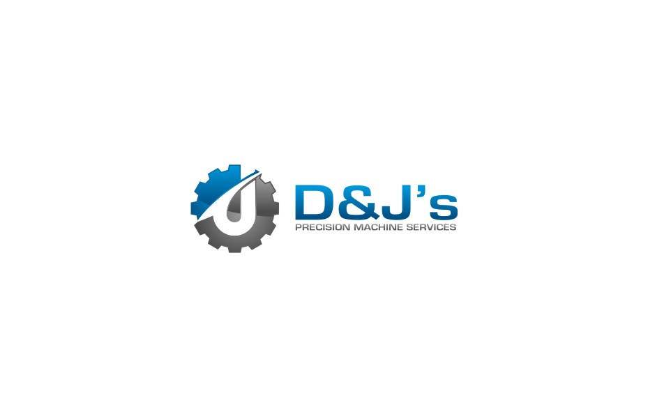Logo Design by untung - Entry No. 112 in the Logo Design Contest Creative Logo Design for D & J's Precision Machine Services.
