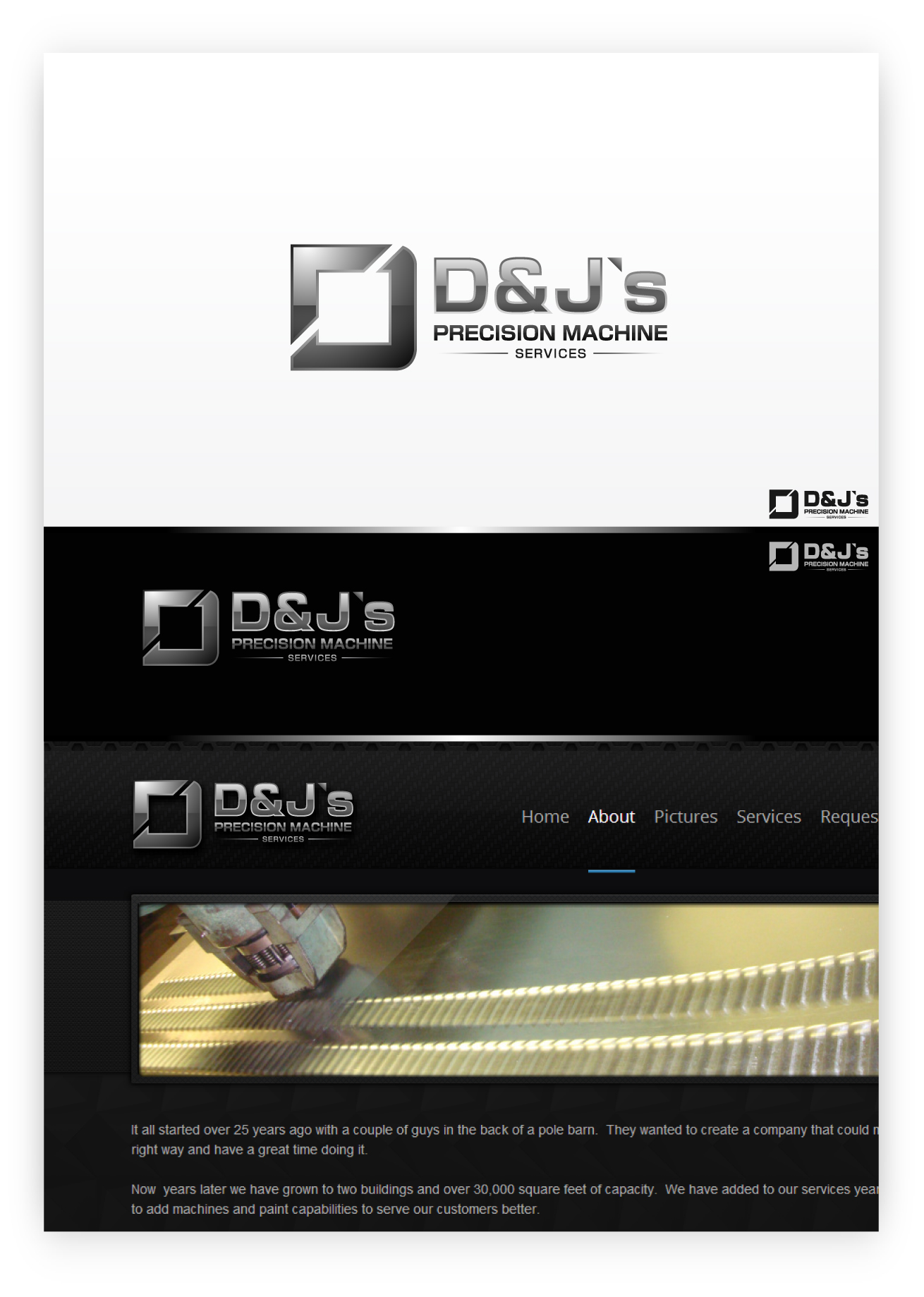 Logo Design by zoiDesign - Entry No. 113 in the Logo Design Contest Creative Logo Design for D & J's Precision Machine Services.