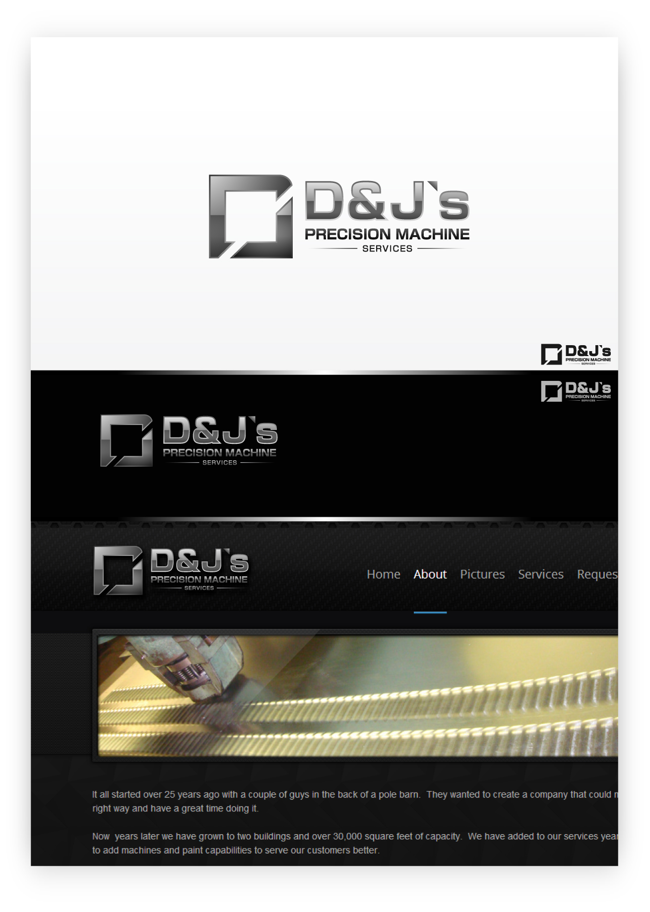 Logo Design by zoiDesign - Entry No. 114 in the Logo Design Contest Creative Logo Design for D & J's Precision Machine Services.