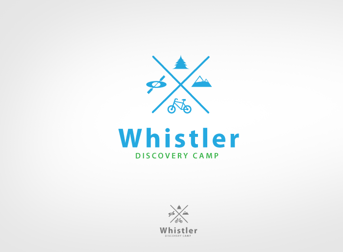 Logo Design by Jan Chua - Entry No. 134 in the Logo Design Contest Captivating Logo Design for Whistler Discovery Camps.