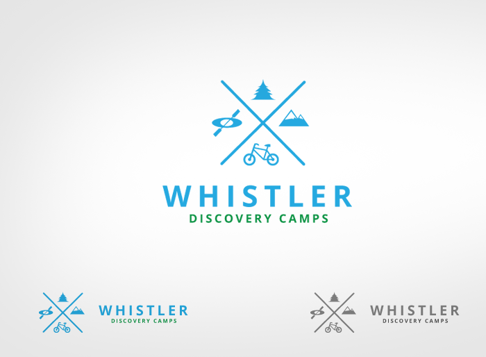 Logo Design by Jan Chua - Entry No. 135 in the Logo Design Contest Captivating Logo Design for Whistler Discovery Camps.