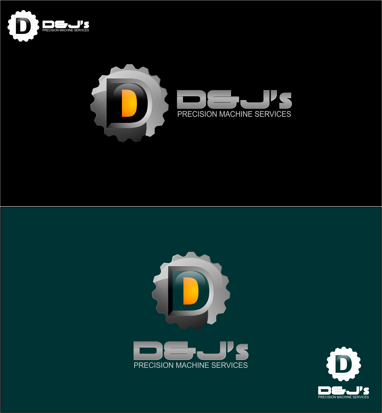 Logo Design by Agus Martoyo - Entry No. 119 in the Logo Design Contest Creative Logo Design for D & J's Precision Machine Services.