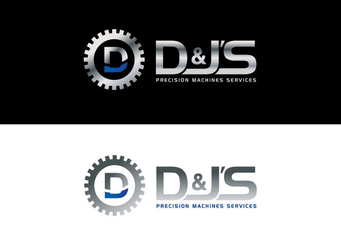 Logo Design by Jan Chua - Entry No. 121 in the Logo Design Contest Creative Logo Design for D & J's Precision Machine Services.