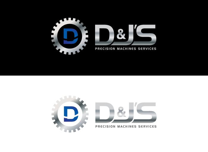 Logo Design by Jan Chua - Entry No. 122 in the Logo Design Contest Creative Logo Design for D & J's Precision Machine Services.