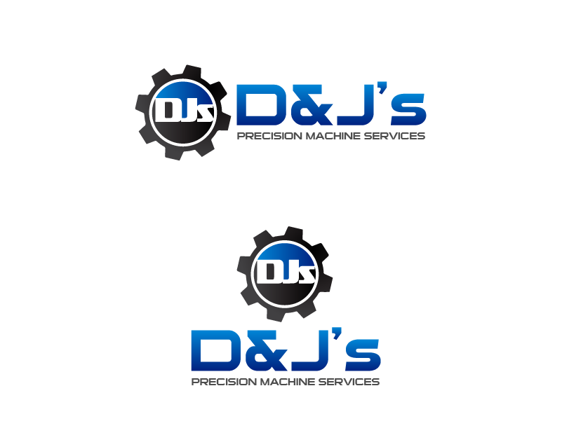 Logo Design by brands_in - Entry No. 128 in the Logo Design Contest Creative Logo Design for D & J's Precision Machine Services.