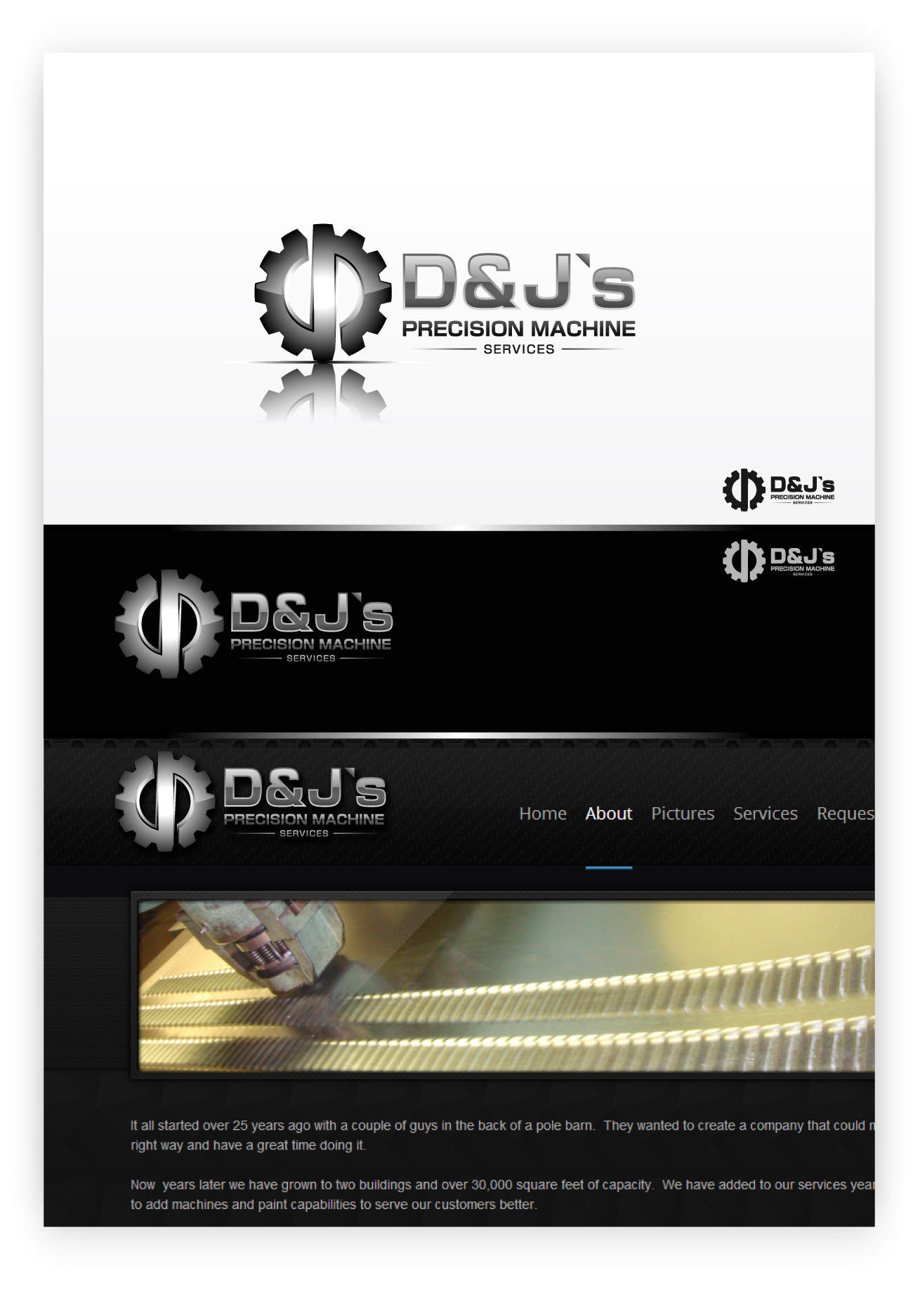 Logo Design by zoiDesign - Entry No. 129 in the Logo Design Contest Creative Logo Design for D & J's Precision Machine Services.