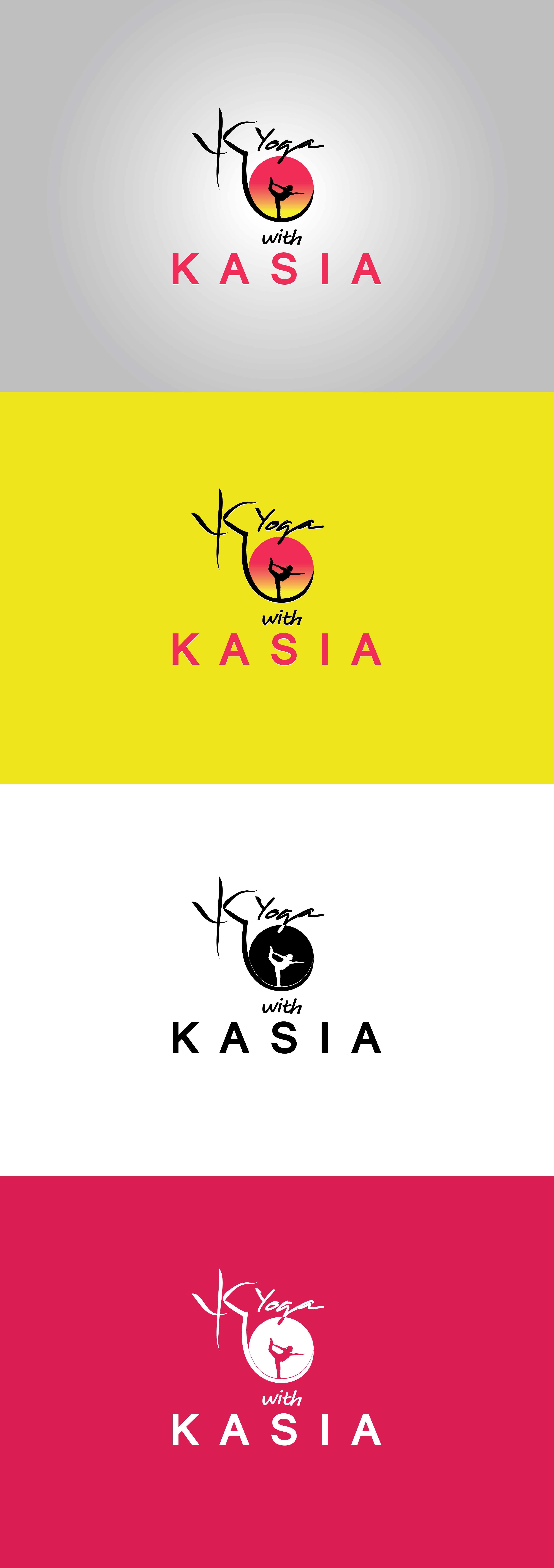 Logo Design by Private User - Entry No. 49 in the Logo Design Contest Artistic Logo Design for Yoga with Kasia.