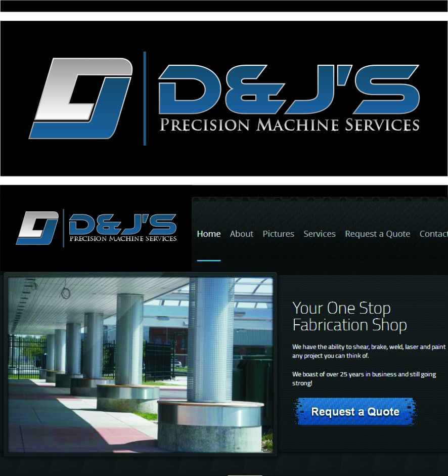 Logo Design by Ngepet_art - Entry No. 139 in the Logo Design Contest Creative Logo Design for D & J's Precision Machine Services.