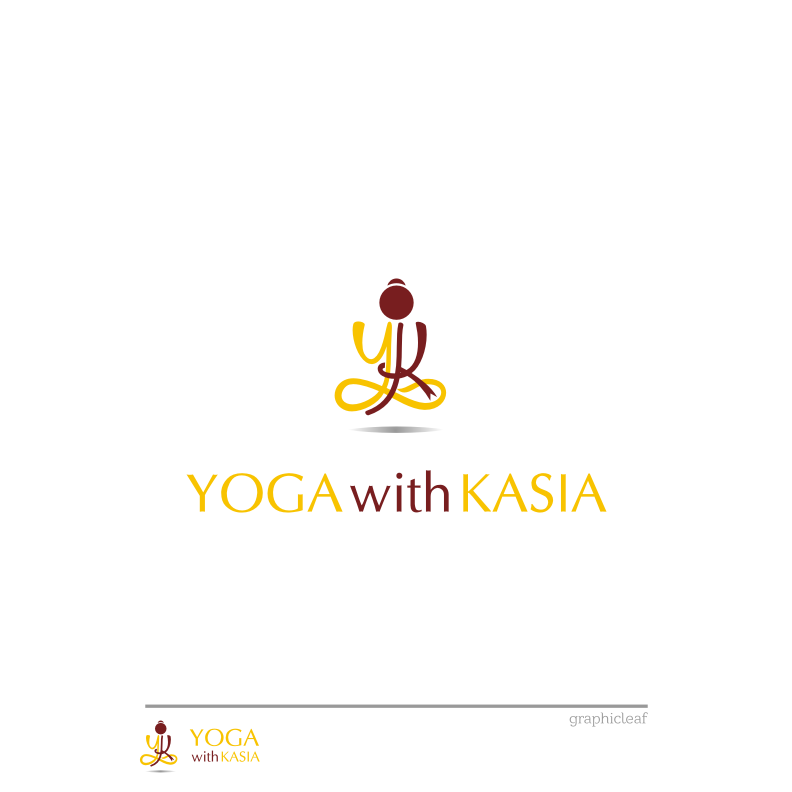 Logo Design by graphicleaf - Entry No. 50 in the Logo Design Contest Artistic Logo Design for Yoga with Kasia.
