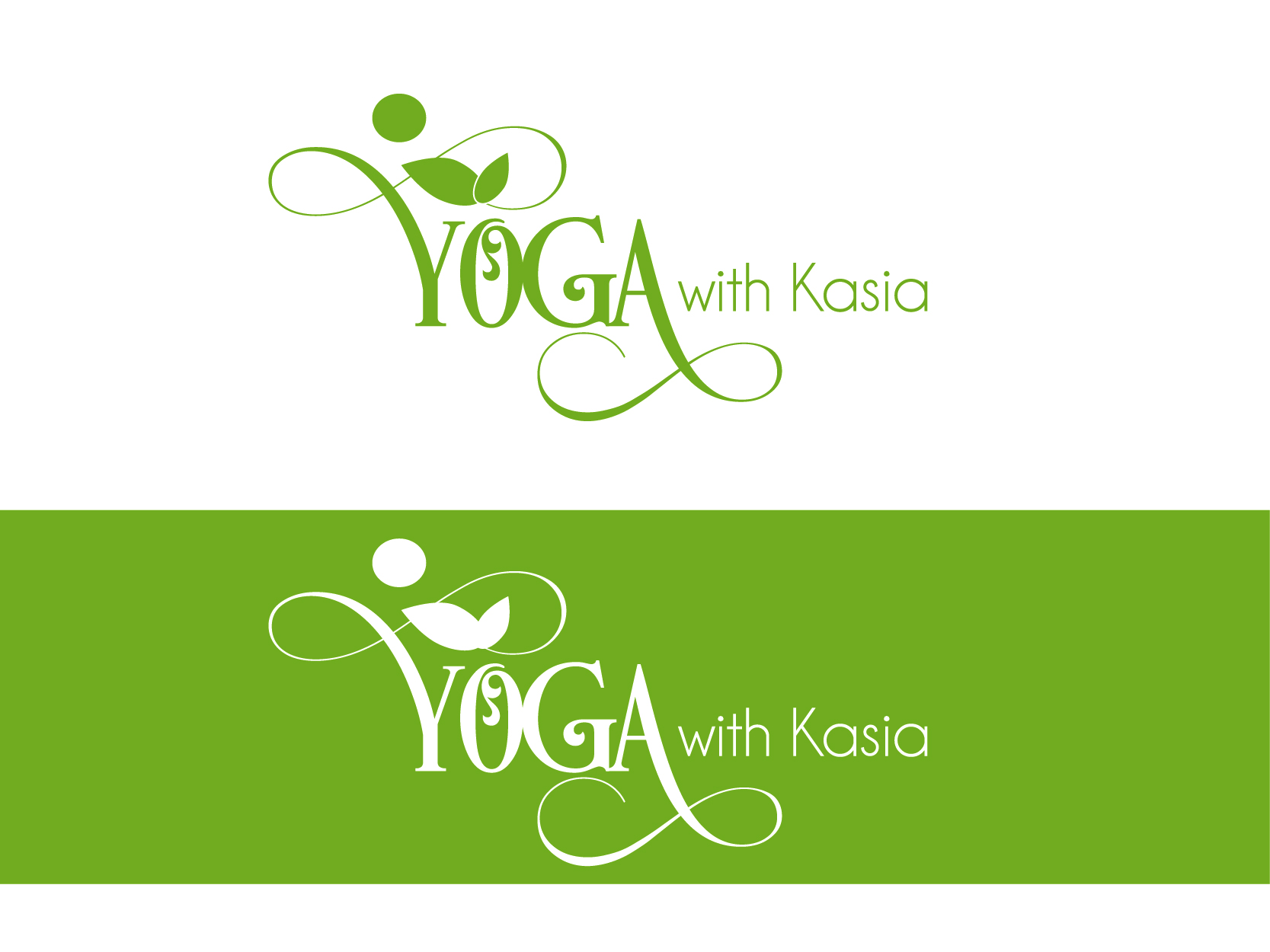 Logo Design by VENTSISLAV KOVACHEV - Entry No. 53 in the Logo Design Contest Artistic Logo Design for Yoga with Kasia.