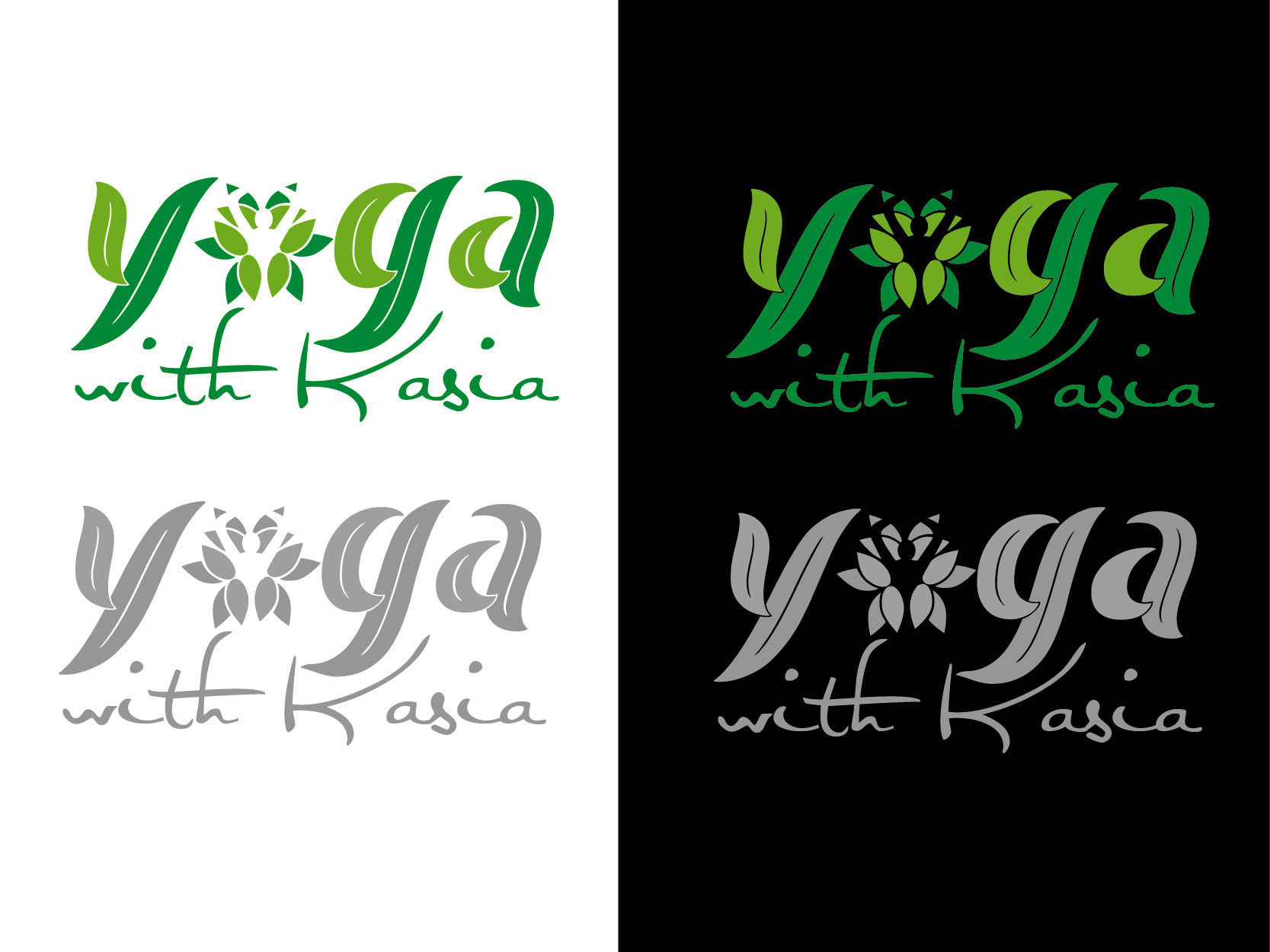 Logo Design by VENTSISLAV KOVACHEV - Entry No. 55 in the Logo Design Contest Artistic Logo Design for Yoga with Kasia.