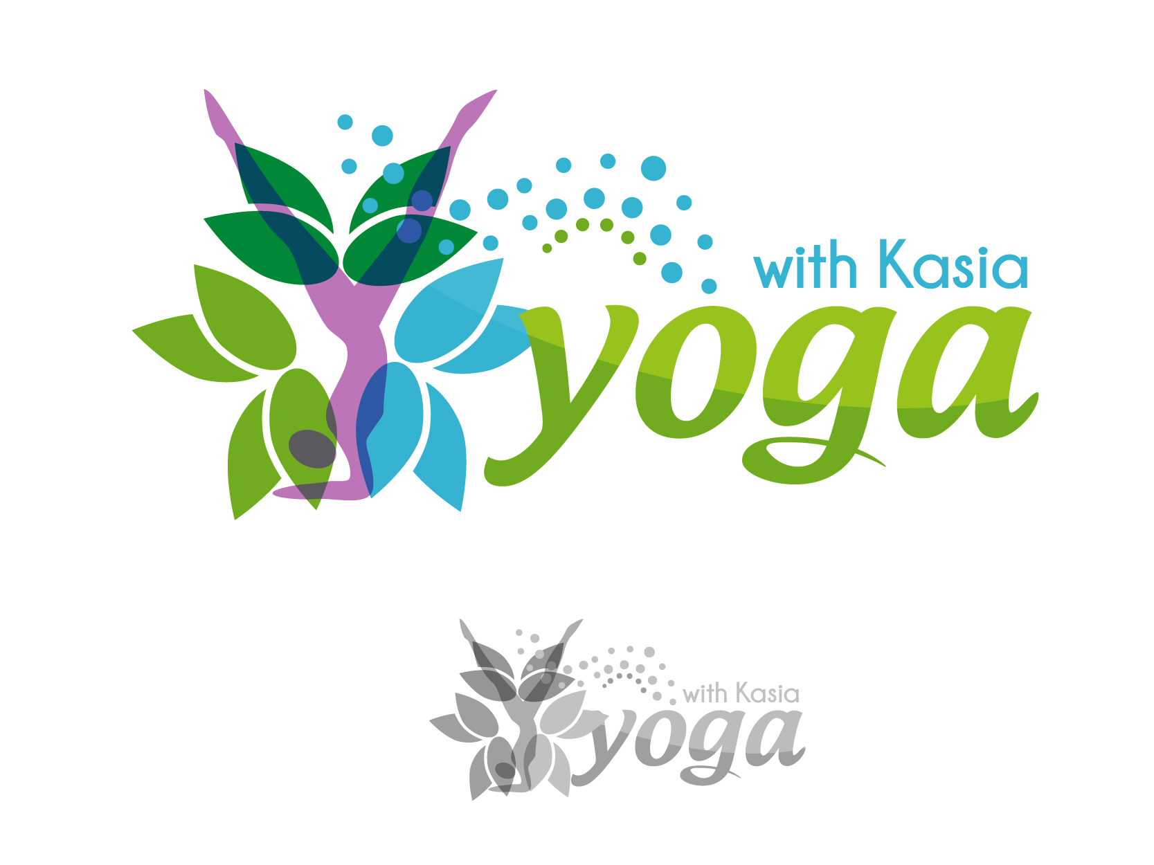 Logo Design by VENTSISLAV KOVACHEV - Entry No. 57 in the Logo Design Contest Artistic Logo Design for Yoga with Kasia.