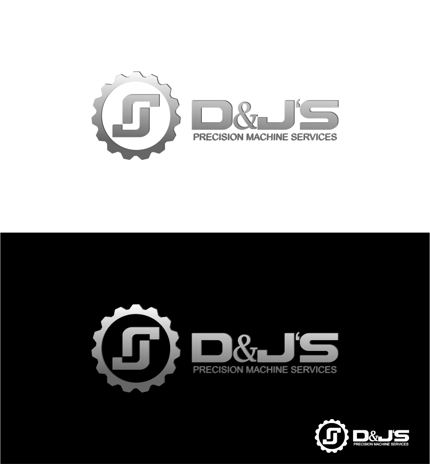 Logo Design by Agus Martoyo - Entry No. 143 in the Logo Design Contest Creative Logo Design for D & J's Precision Machine Services.