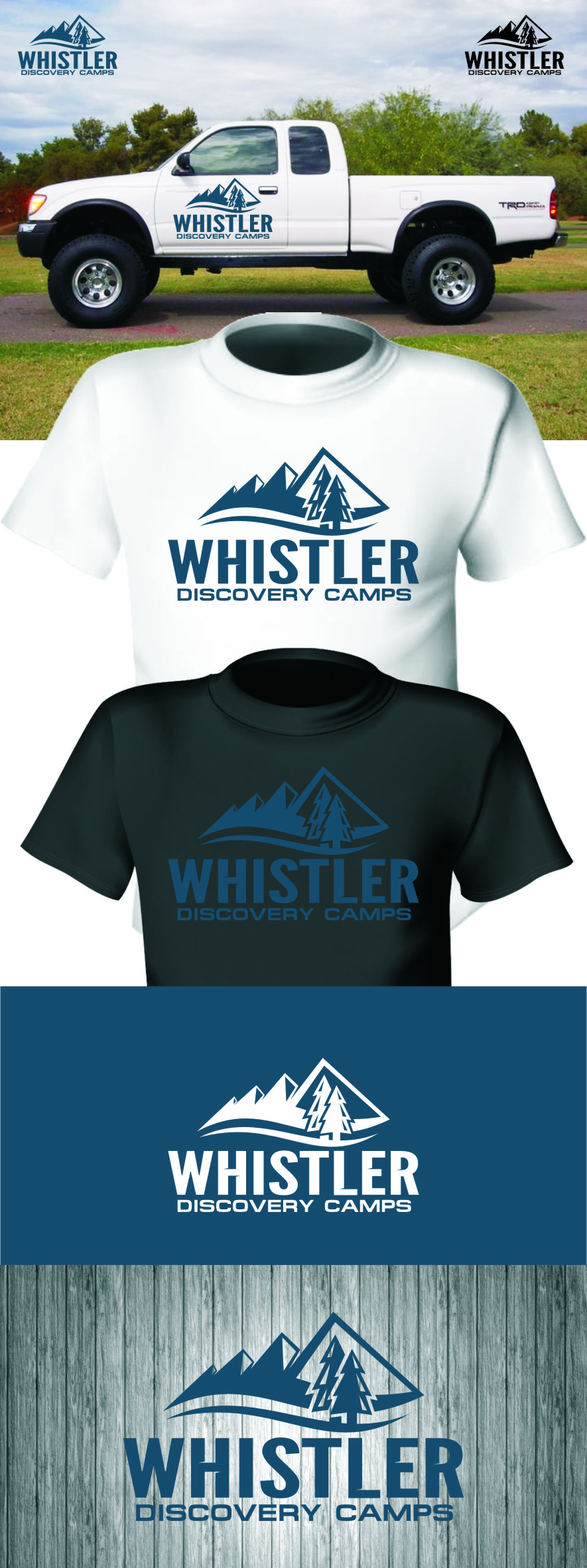 Logo Design by RasYa Muhammad Athaya - Entry No. 150 in the Logo Design Contest Captivating Logo Design for Whistler Discovery Camps.