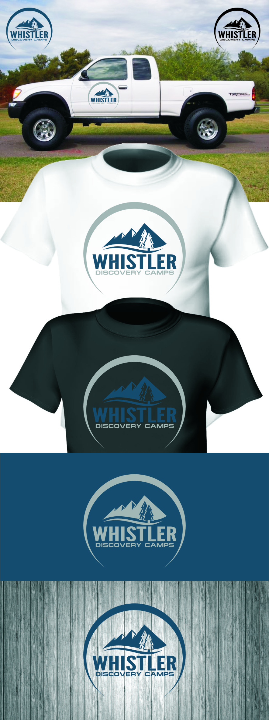 Logo Design by Ngepet_art - Entry No. 153 in the Logo Design Contest Captivating Logo Design for Whistler Discovery Camps.
