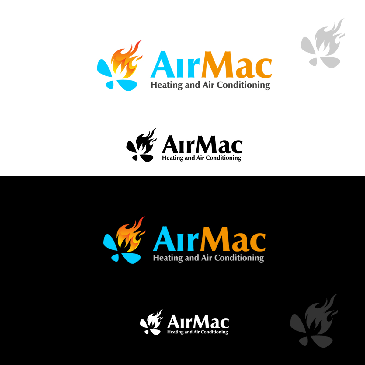 Logo Design by pixdesign - Entry No. 16 in the Logo Design Contest Unique Logo Design Wanted for Air Mac.