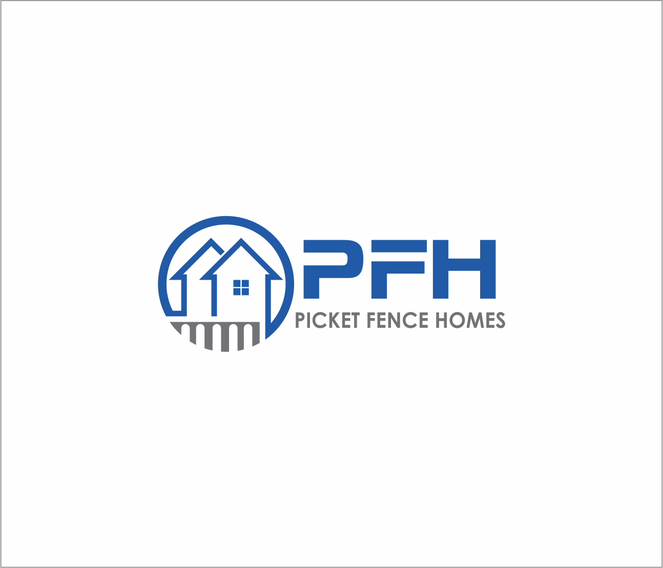 Logo Design by Armada Jamaluddin - Entry No. 17 in the Logo Design Contest Picket Fence Homes Logo Design.