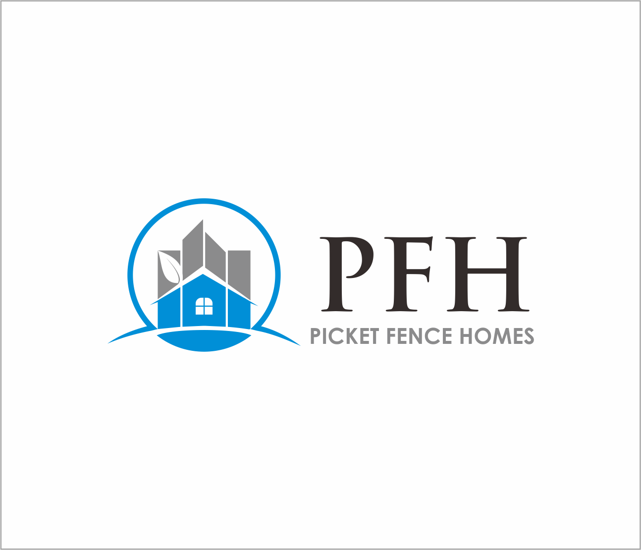 Logo Design by Armada Jamaluddin - Entry No. 19 in the Logo Design Contest Picket Fence Homes Logo Design.