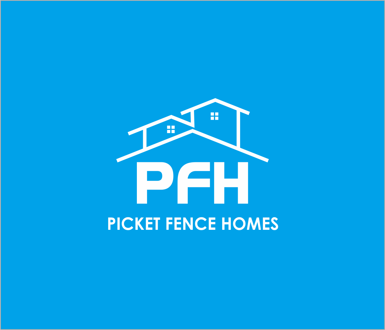 Logo Design by Armada Jamaluddin - Entry No. 21 in the Logo Design Contest Picket Fence Homes Logo Design.