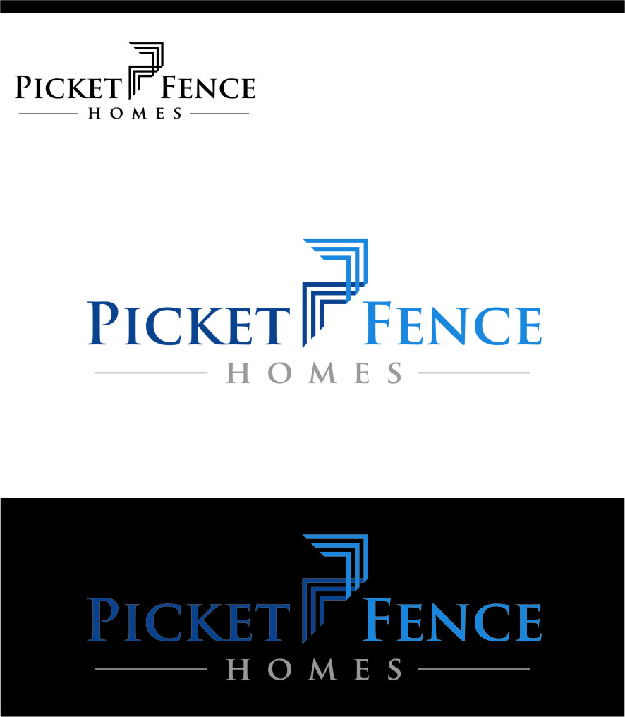 Logo Design by Ngepet_art - Entry No. 28 in the Logo Design Contest Picket Fence Homes Logo Design.