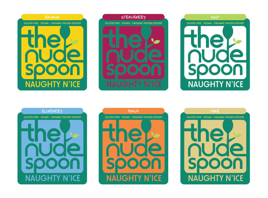 Logo Design by Christina Evans - Entry No. 25 in the Logo Design Contest Captivating Logo Design for The Nude Spoon.