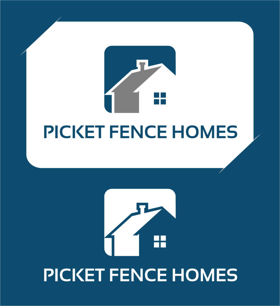 Logo Design by Ngepet_art - Entry No. 35 in the Logo Design Contest Picket Fence Homes Logo Design.