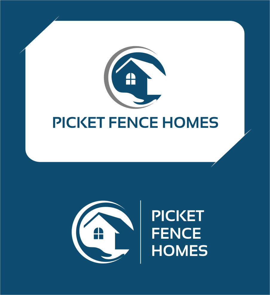 Logo Design by Ngepet_art - Entry No. 36 in the Logo Design Contest Picket Fence Homes Logo Design.
