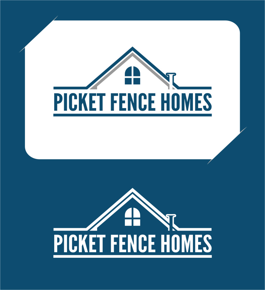 Logo Design by RoSyid Rono-Rene On Java - Entry No. 38 in the Logo Design Contest Picket Fence Homes Logo Design.