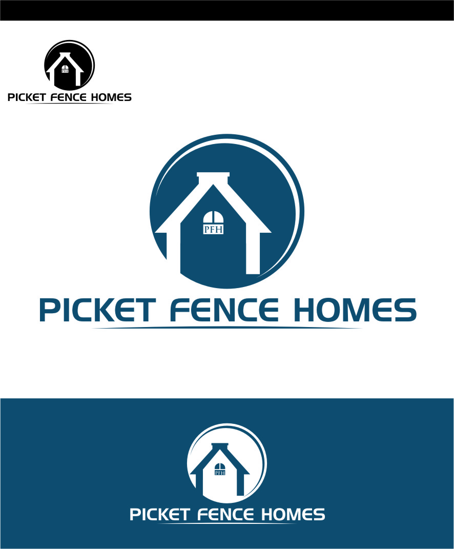 Logo Design by Ngepet_art - Entry No. 42 in the Logo Design Contest Picket Fence Homes Logo Design.