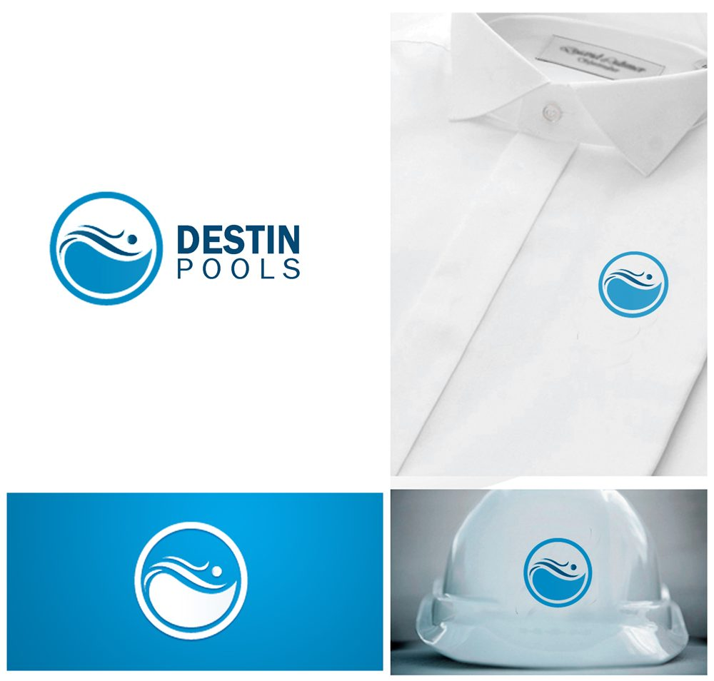 Logo Design by Respati Himawan - Entry No. 7 in the Logo Design Contest Fun Logo Design for Destin Pools.
