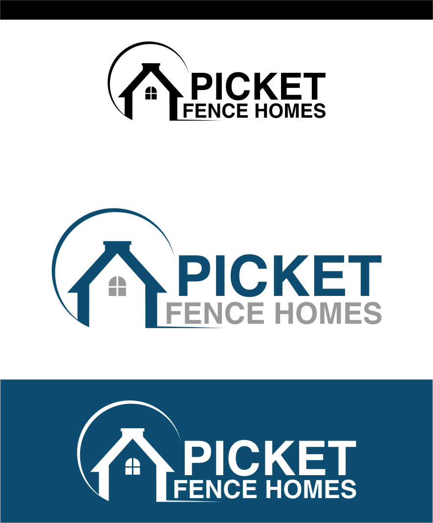 Logo Design by RasYa Muhammad Athaya - Entry No. 46 in the Logo Design Contest Picket Fence Homes Logo Design.