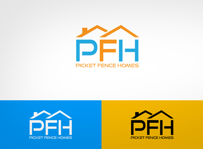 Logo Design by Jan Chua - Entry No. 48 in the Logo Design Contest Picket Fence Homes Logo Design.