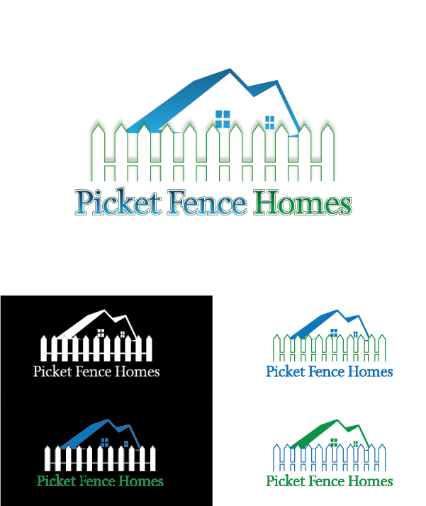 Logo Design by Chris Cowan - Entry No. 58 in the Logo Design Contest Picket Fence Homes Logo Design.