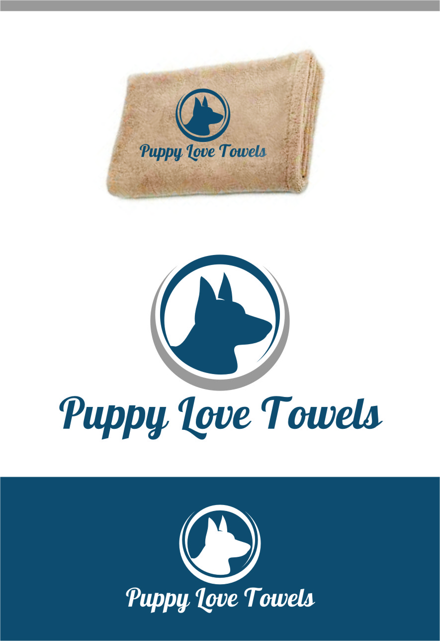 Logo Design by RasYa Muhammad Athaya - Entry No. 8 in the Logo Design Contest Artistic Logo Design for Puppy Love Towels.